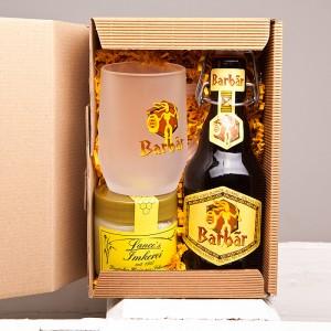 Belgisches Honigbier, in Geschenkbox mit einem Bierglas und 250g Blütenhonig